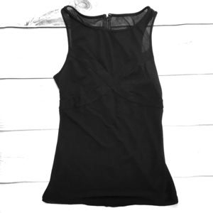Sheer Black Express Top Size Small